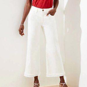 NWT Loft Wide Leg White Crop Jeans - Size 29